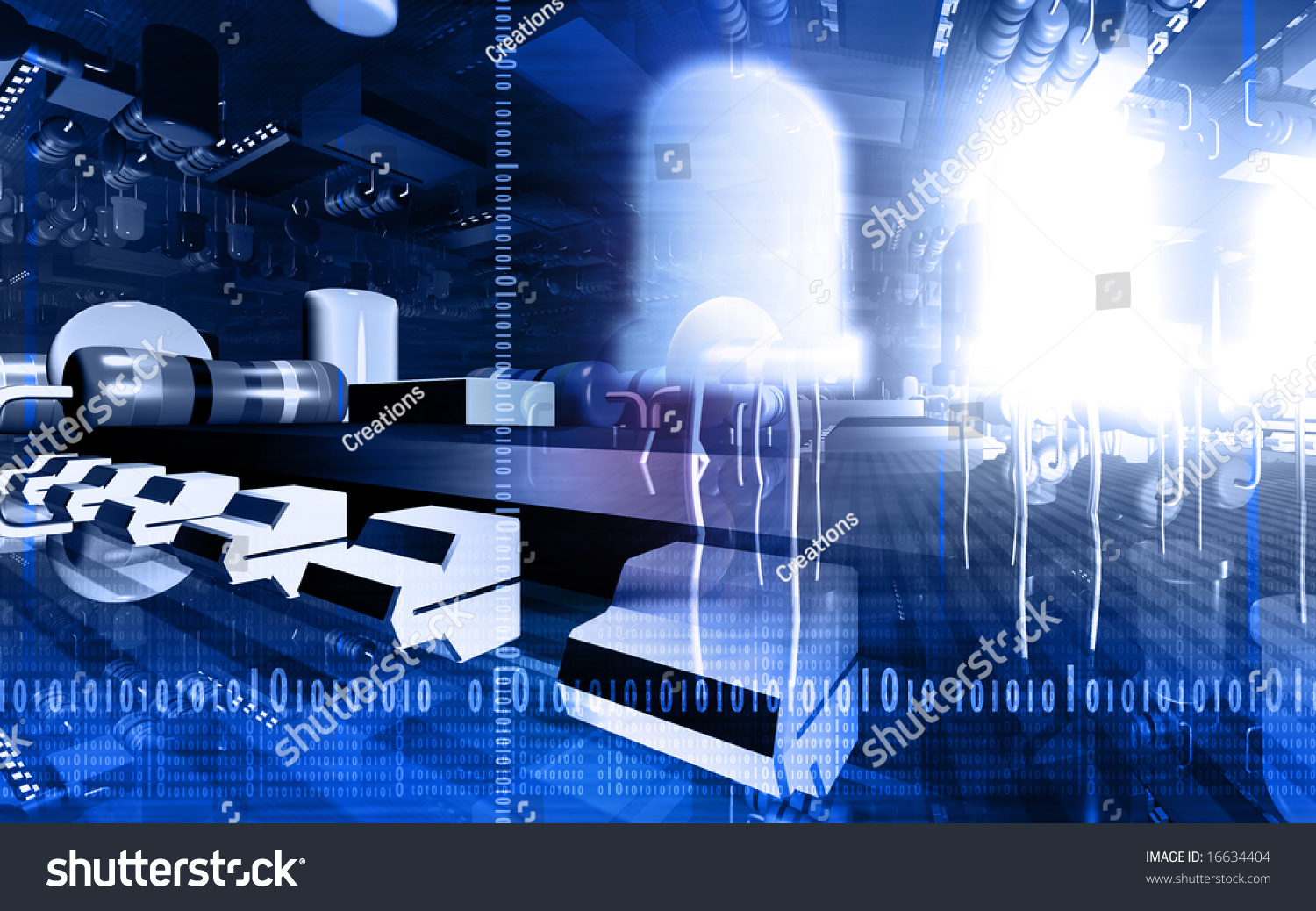 Digital Illustration Electric Circuit Board Stock Closeup Of Electronic Royalty Free Photography An