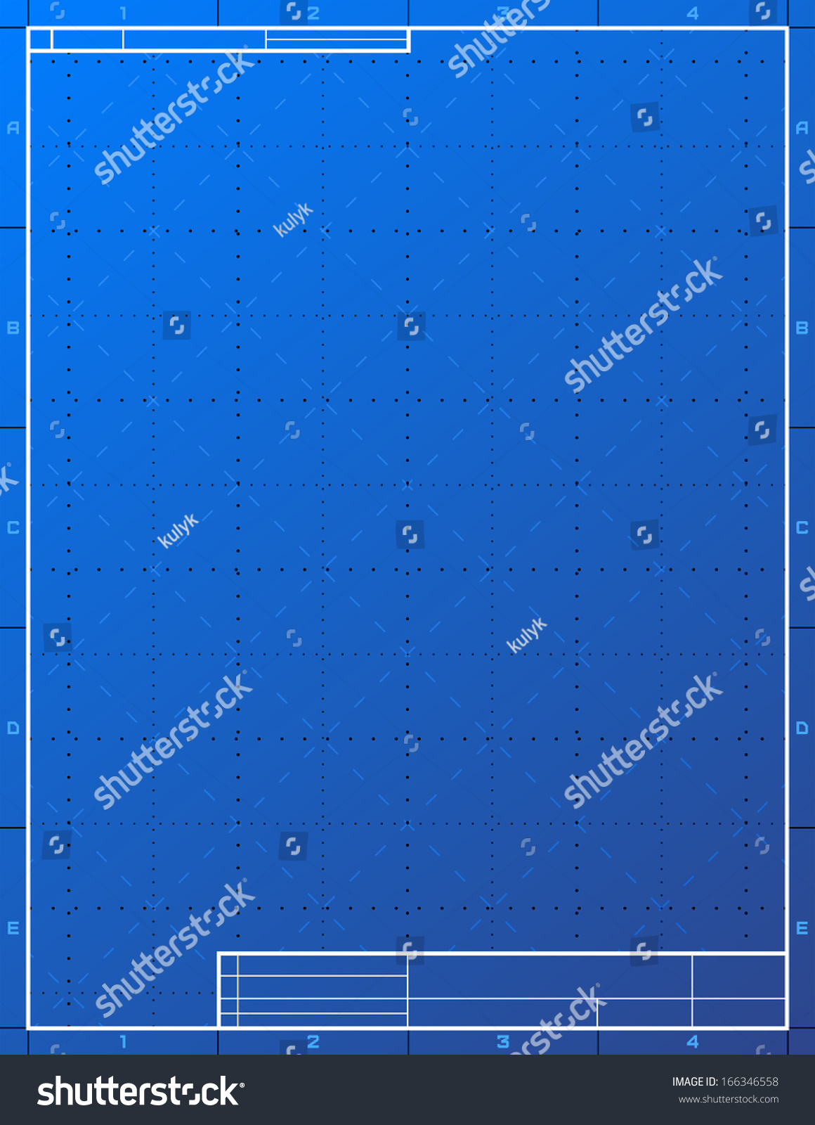 Blank blueprint paper drafting drawing sheet stock vector blank blueprint paper for drafting drawing sheet layout with frame and title block vector malvernweather Image collections