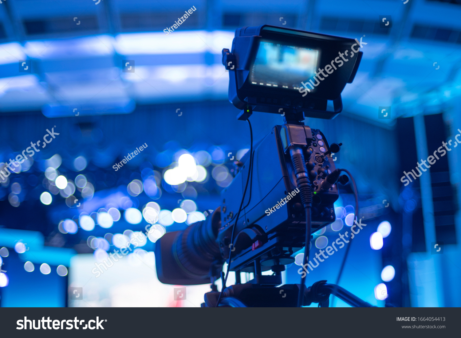 studio camera at the concert. television shooting #1664054413
