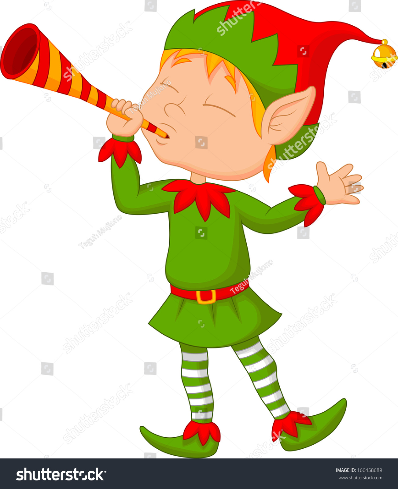 Stock Vector Elf Cartoon