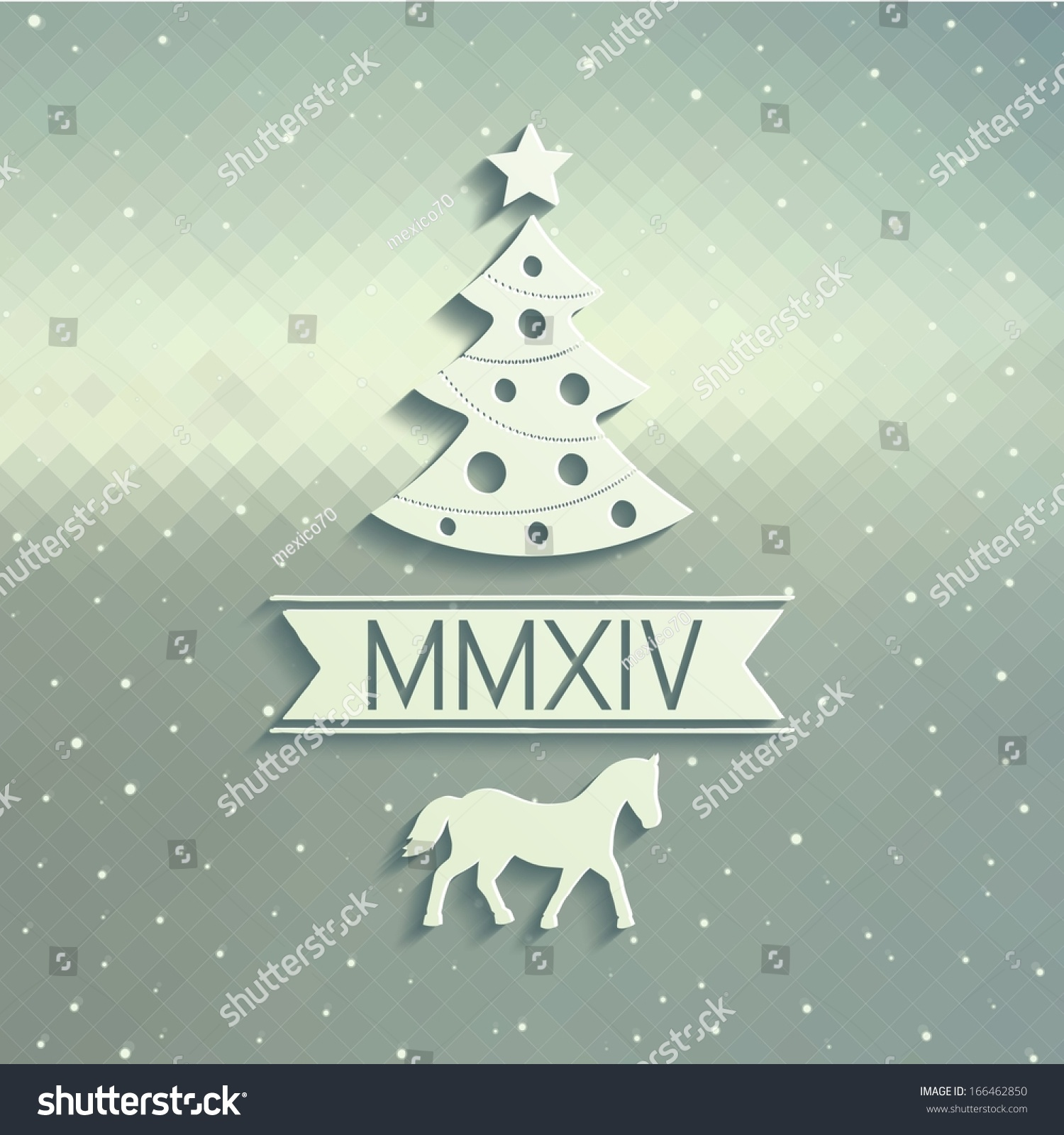 Christmas Card Design Symbols Coming Year Stock-Vektorgrafik ...