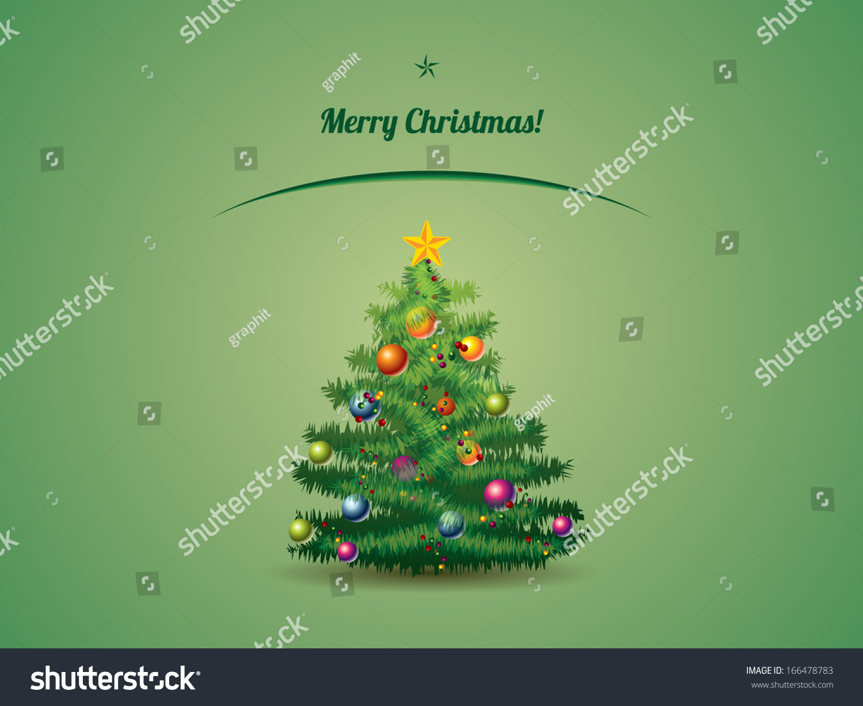 Christmas Tree Postcard Stock Illustration 166478783 - Shutterstock