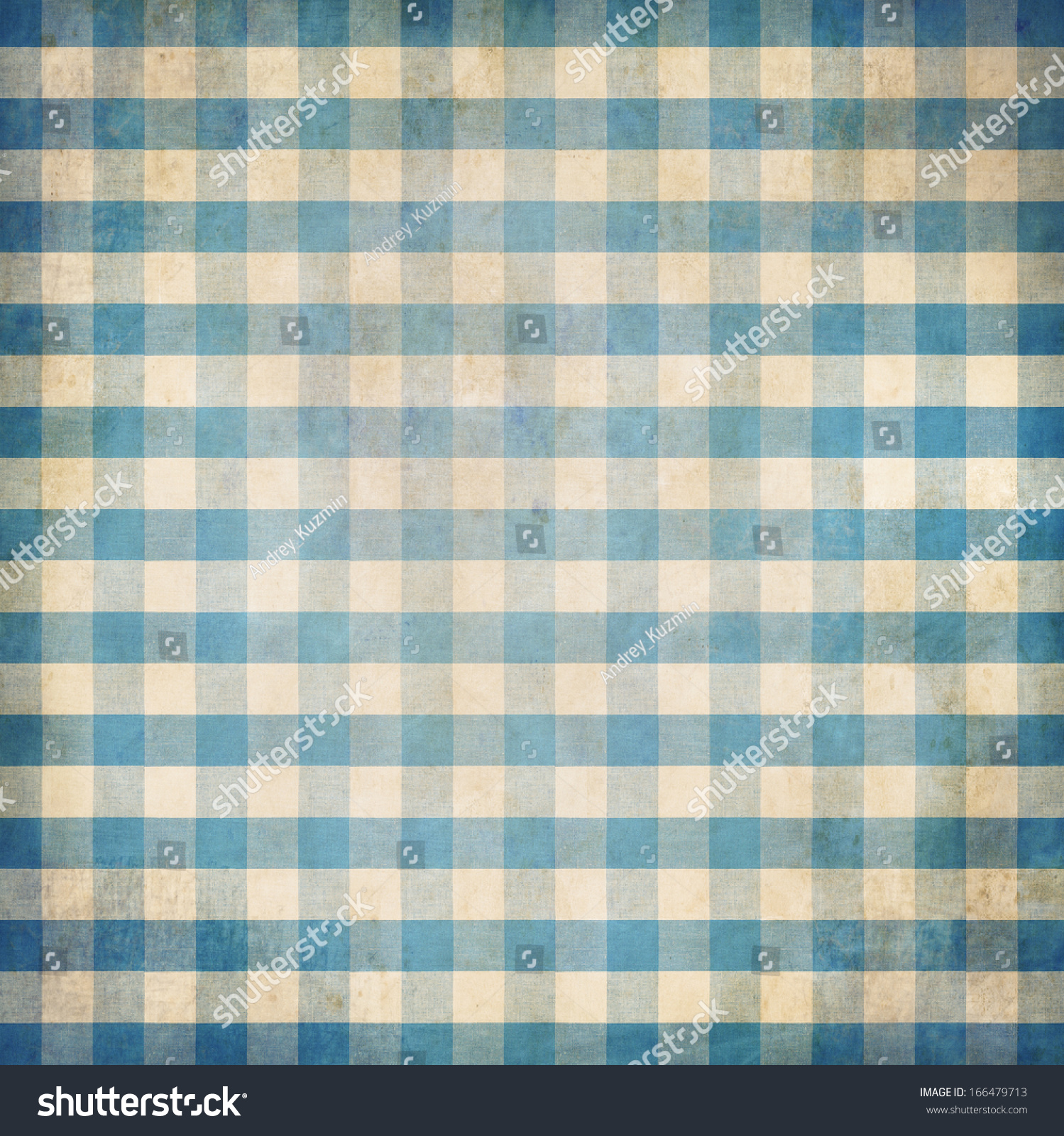 Blue tablecloth background - Blue Grunge Checked Gingham Picnic Tablecloth Background