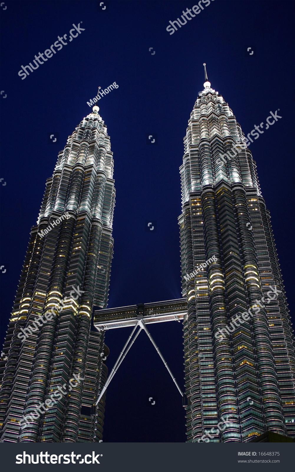 Night scene petronas twin tower kuala stock photo 16648375 night scene of petronas twin tower kuala lumpur malaysia buycottarizona Gallery