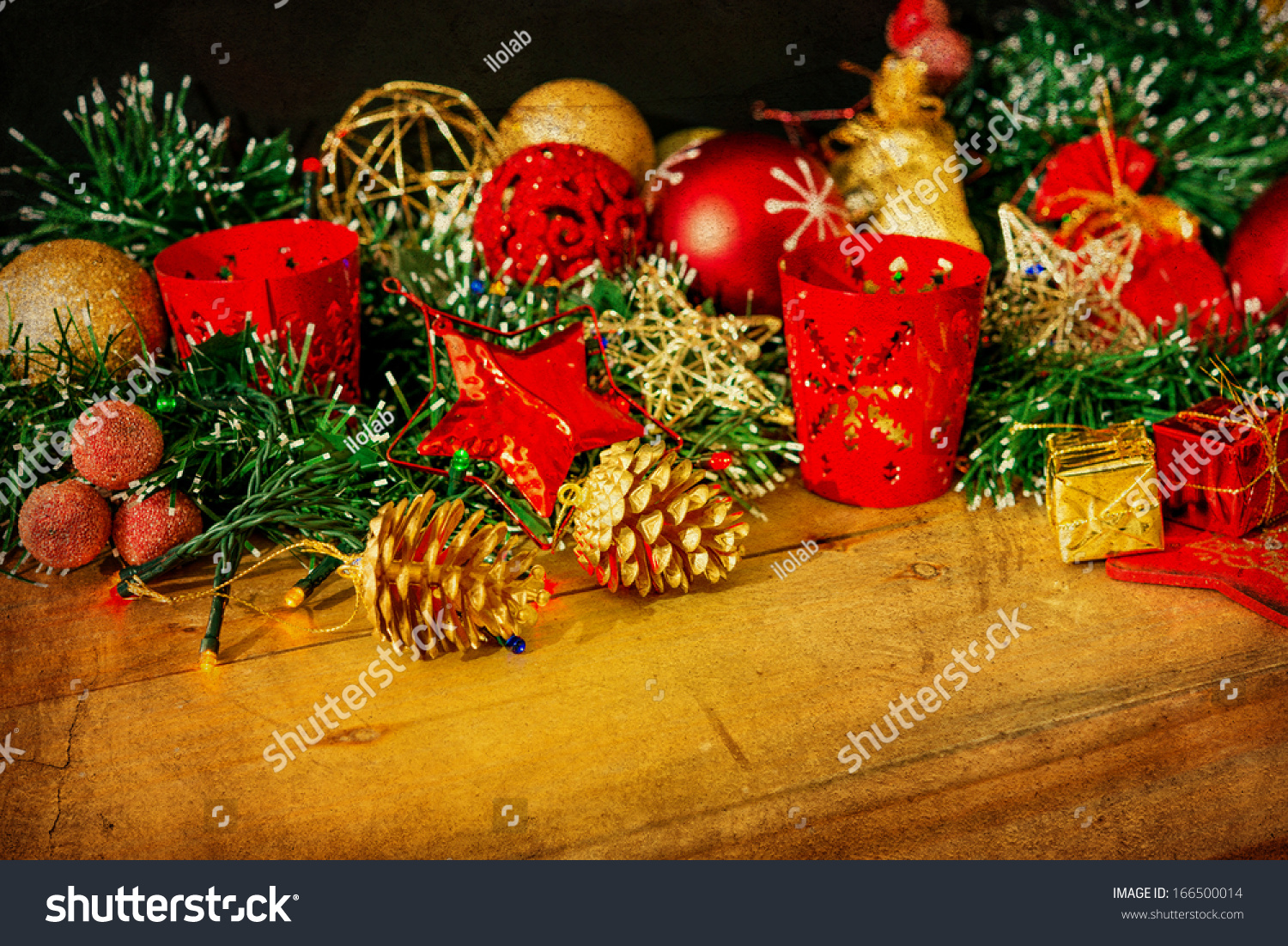 Old Fashioned Antique Christmas Decoration Stock Photo 166500014 ...