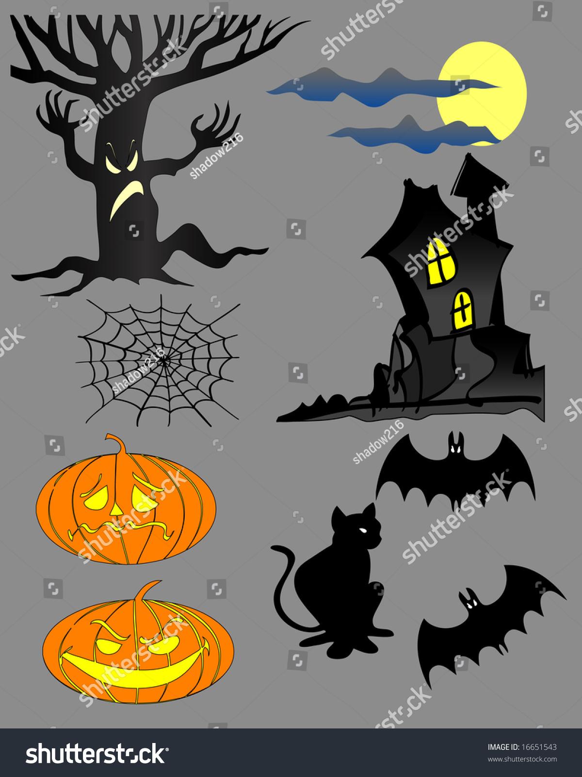 Vector Illustration Halloween Cartoons Stock Vector 16651543 ...