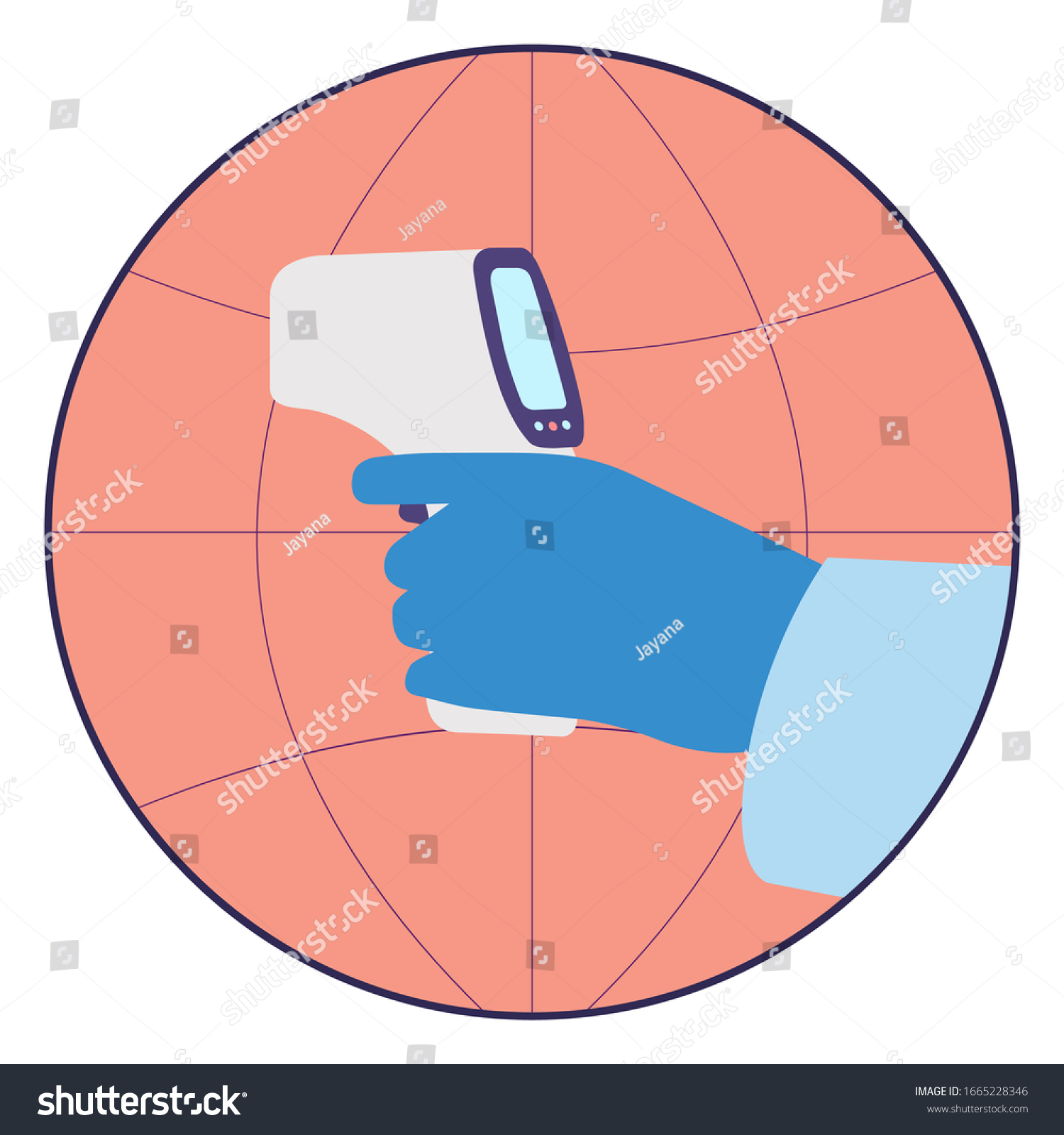 Check Body Temperature Fever Covid19 Checkpoint Stock Vector Royalty Free 1665228346