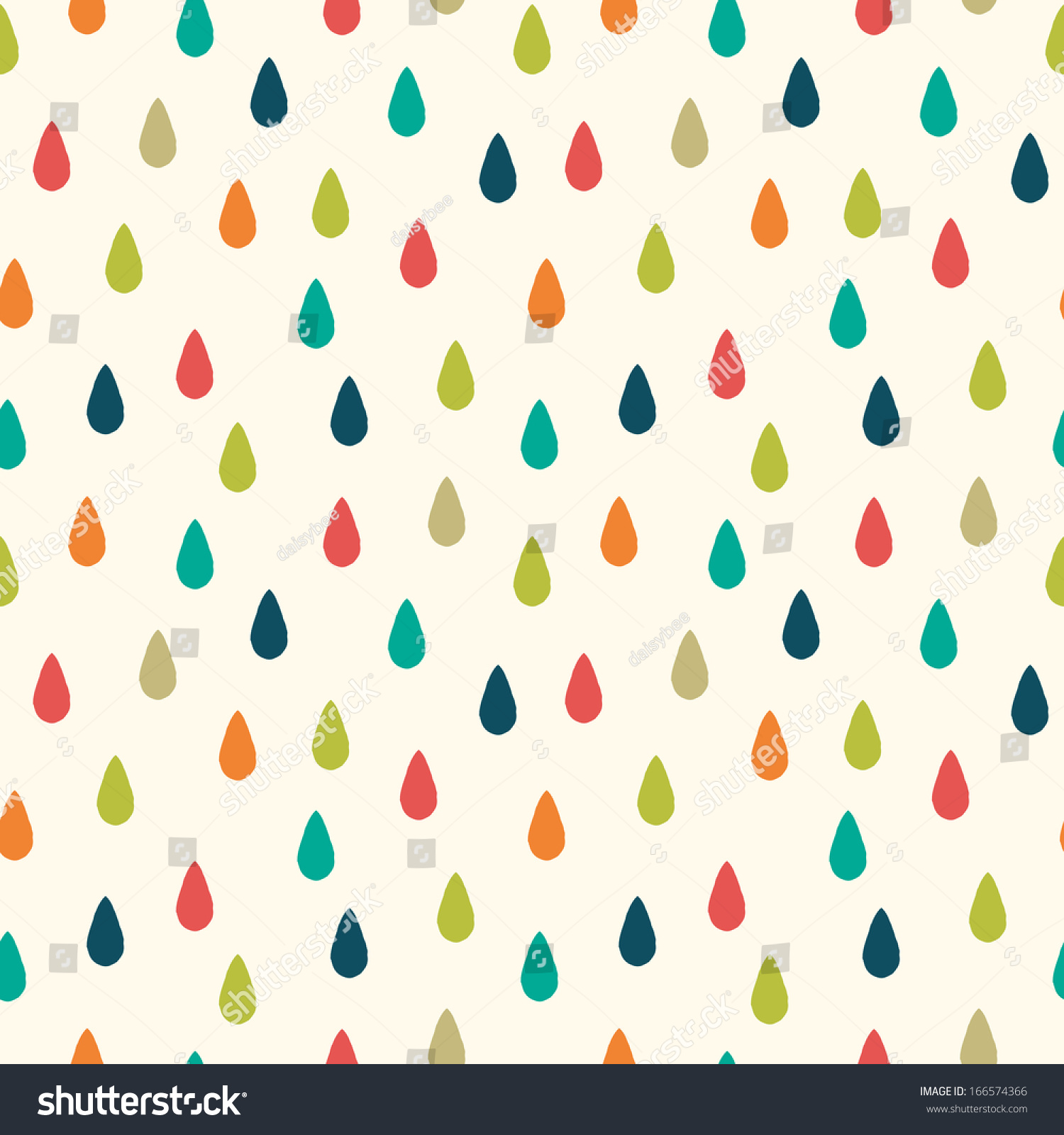 cute raster seamless hipster background raindrops stock