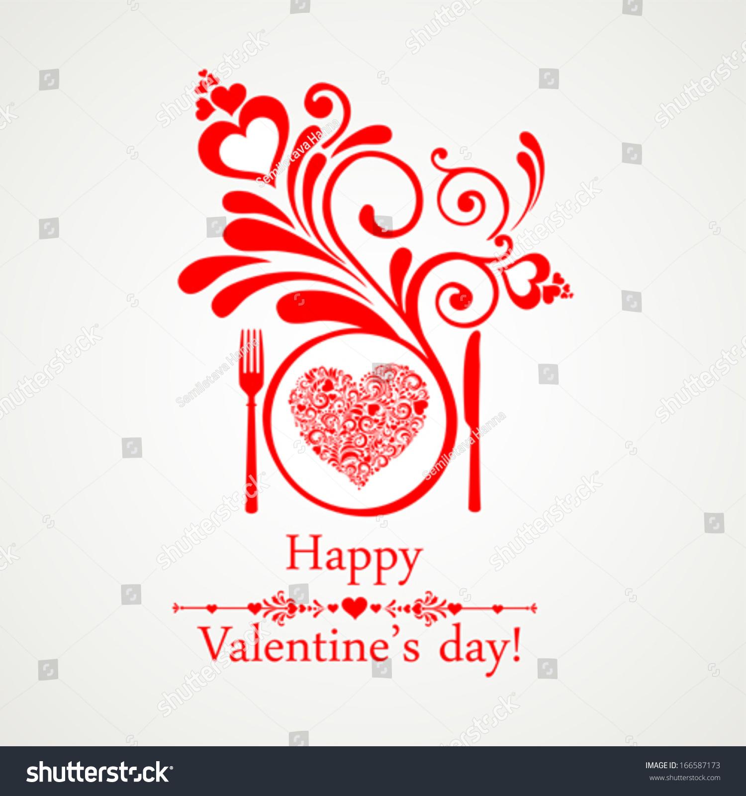 happy valentines day restaurant menu card stock vector 166587173 restaurant menu card design menu template on valentine`s day