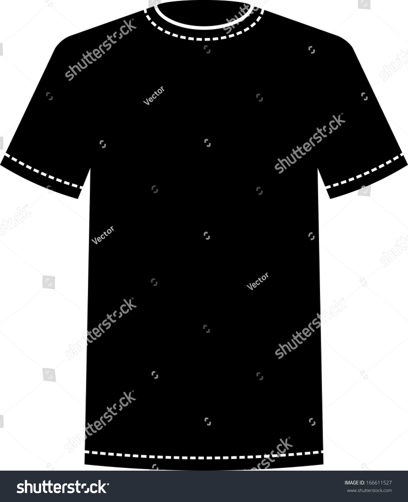 Black t shirt template vector - Blank Black T Shirt Template Vector