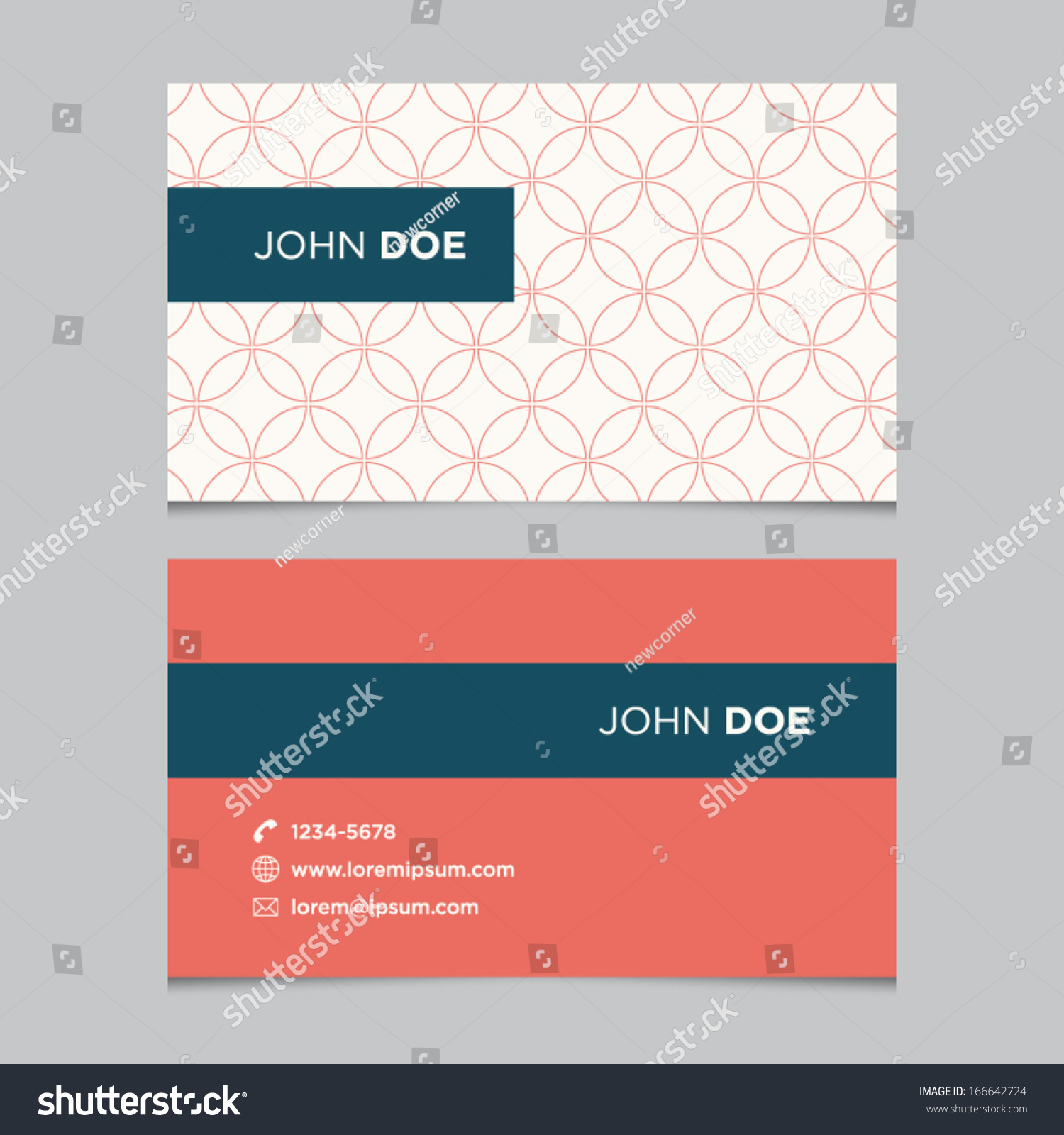 Business Card Template Background Pattern Vector Stock Vector ...