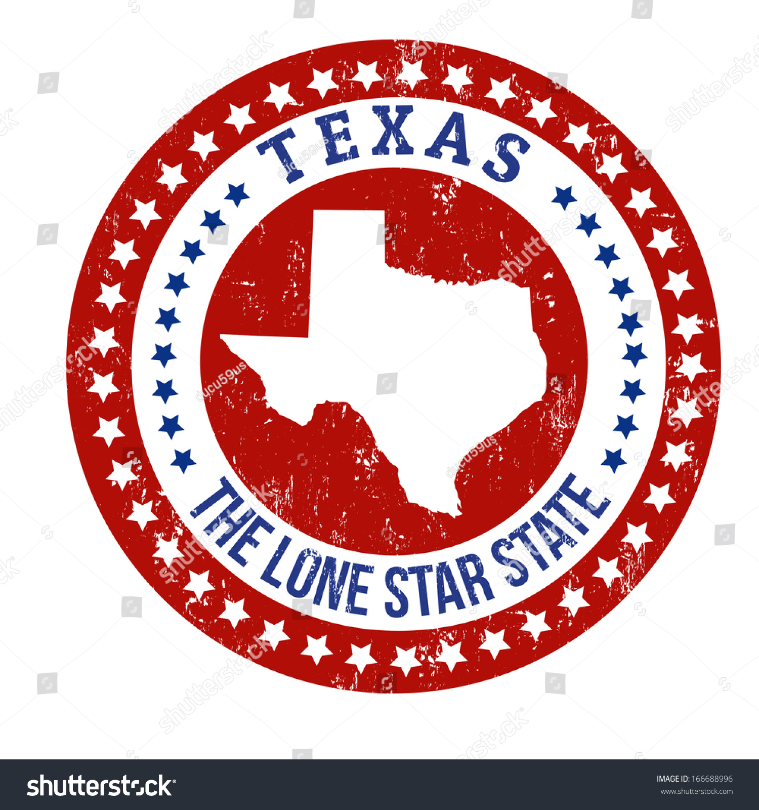 Vintage Stamp Text Lone Star State Stock Vector Royalty Free