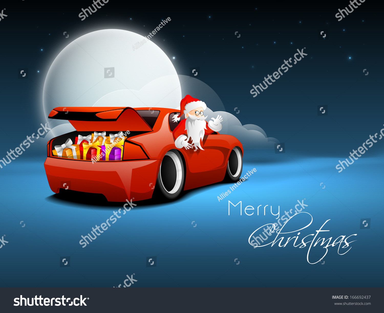 merry christmas car magnet