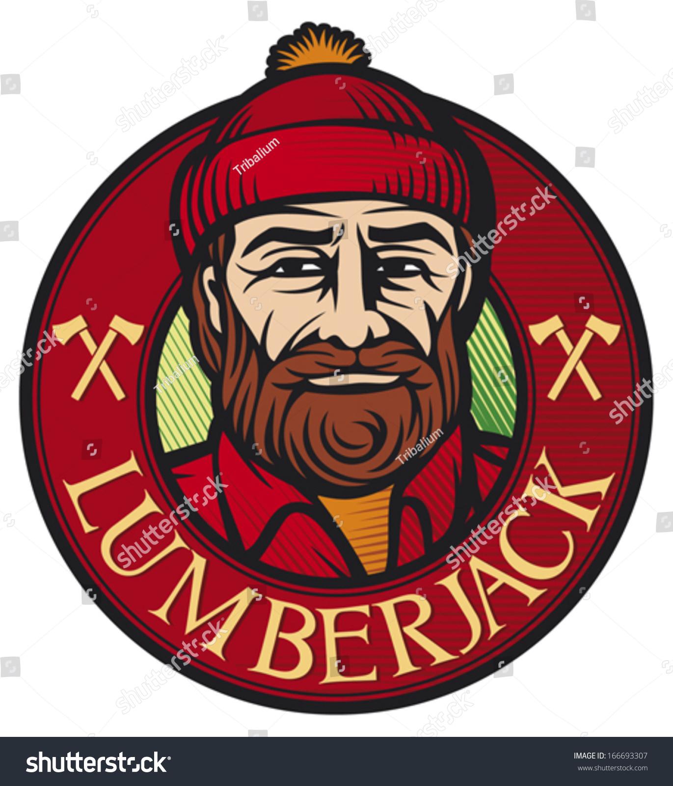 ... , Logger Design) Stock Vector Illustration 166693307 : Shutterstock