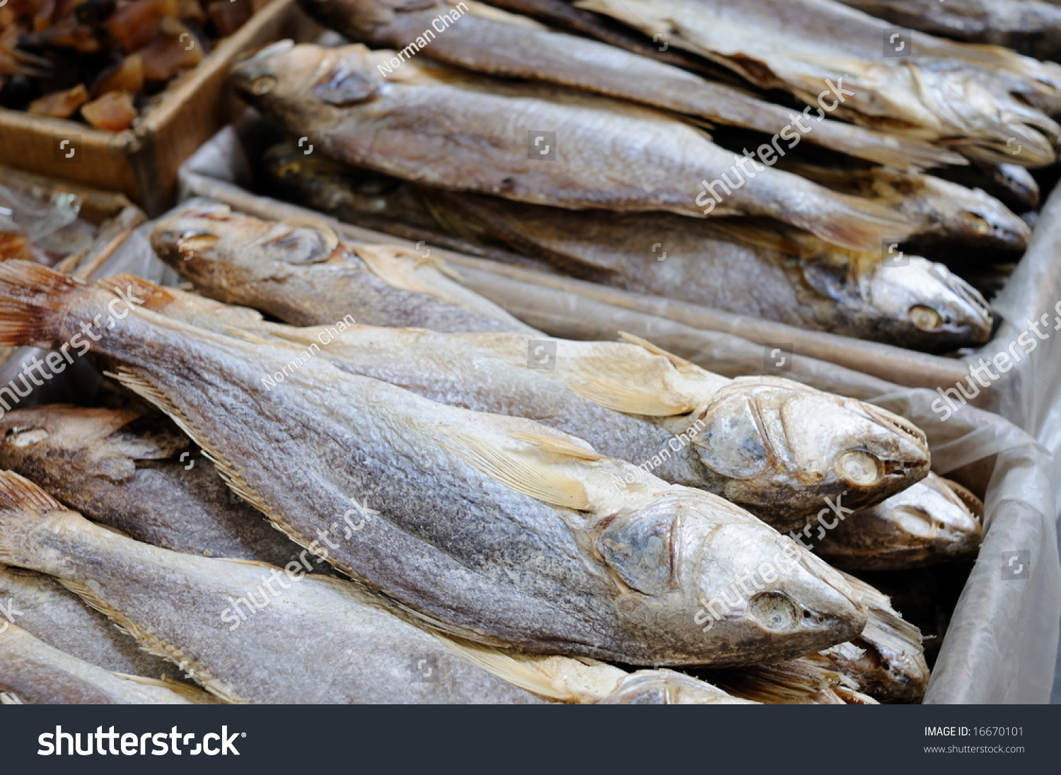 Stack Traditional Chinese Salted Fish Stock Photo 16670101 ...