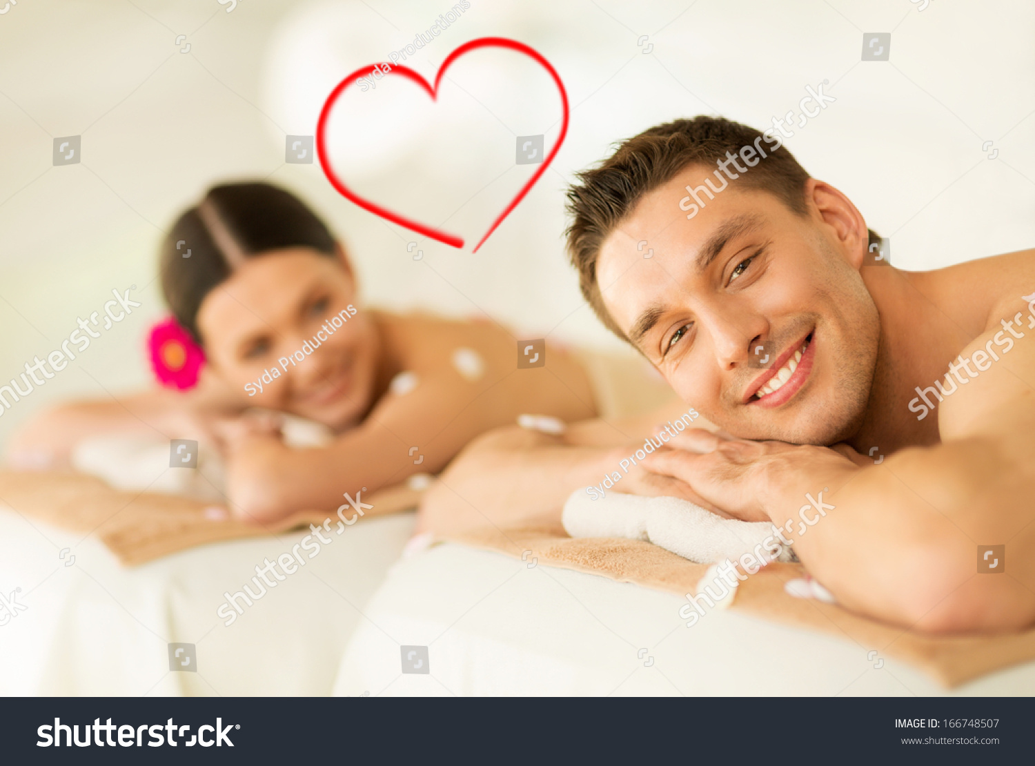 spa beauty love happiness concept smiling stock photo 166748507 shutterstock. Black Bedroom Furniture Sets. Home Design Ideas
