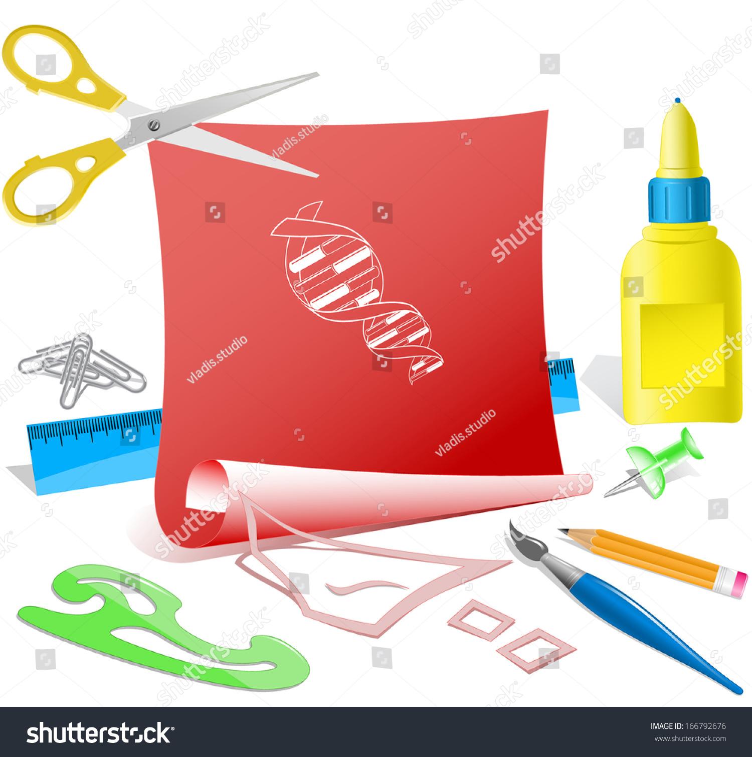 DNA Paper Template Raster Illustration Stock Illustration 166792676 ...