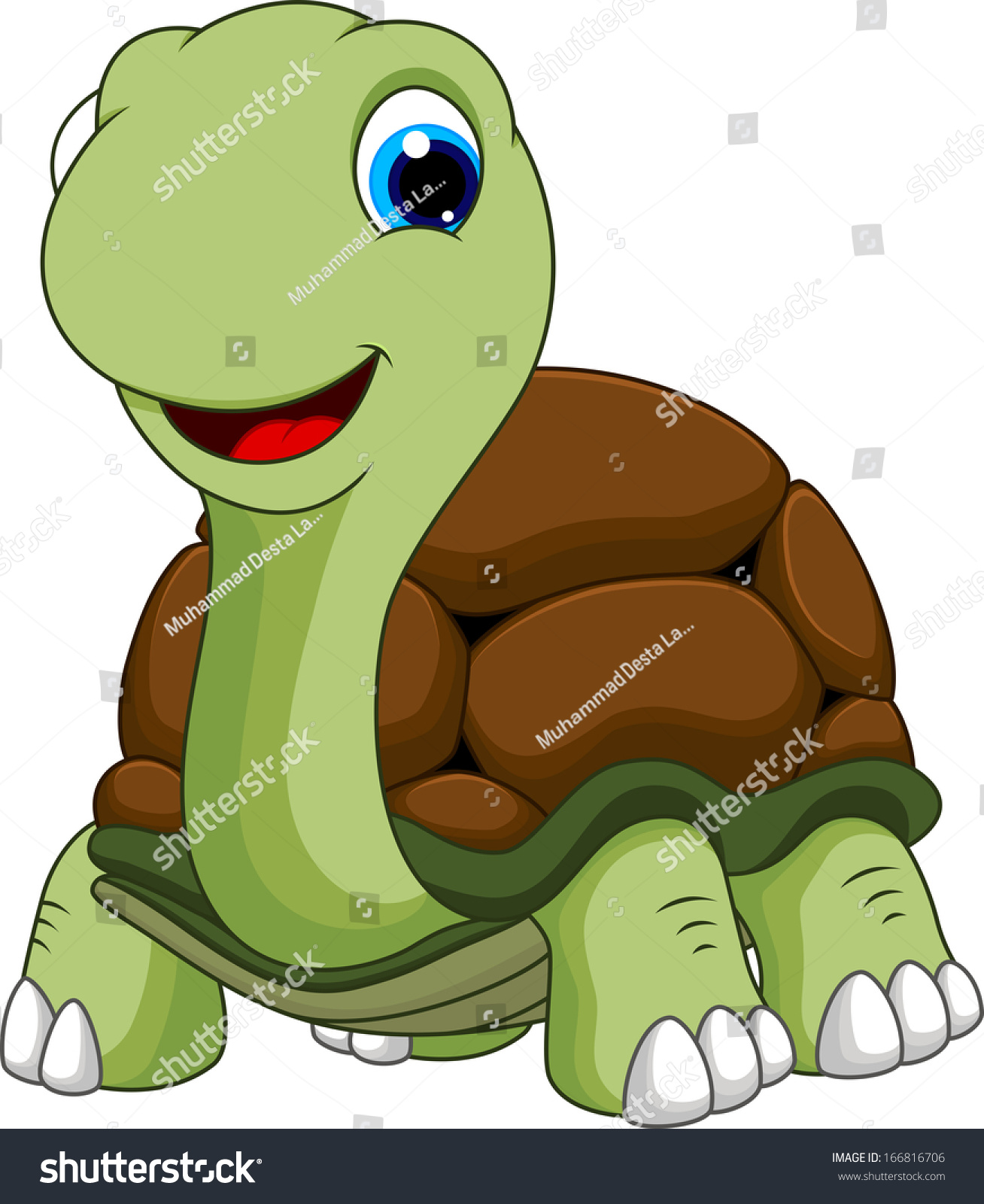 Cartoon Turtle Cute Stock Vector Illustration 166816706