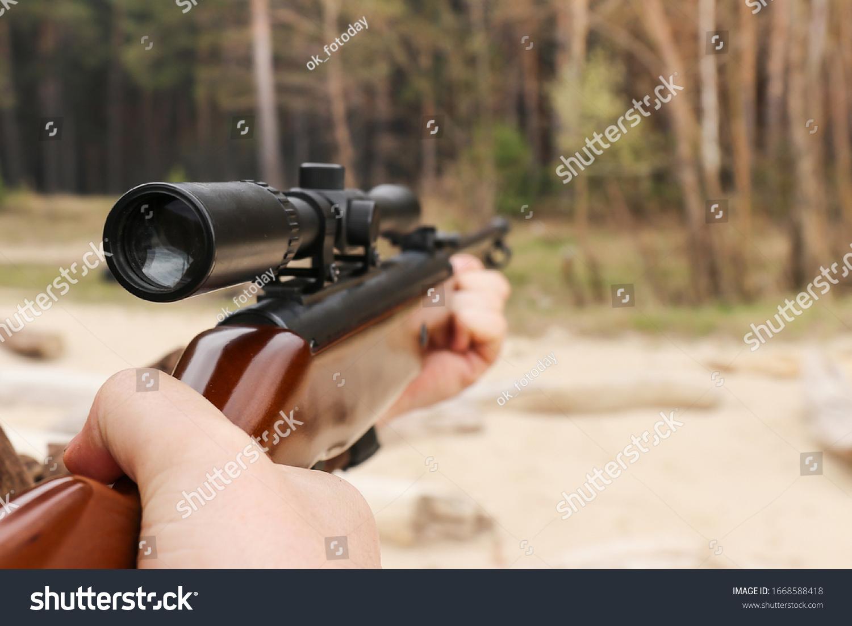 stock-photo-air-rifle-with-an-optical-si