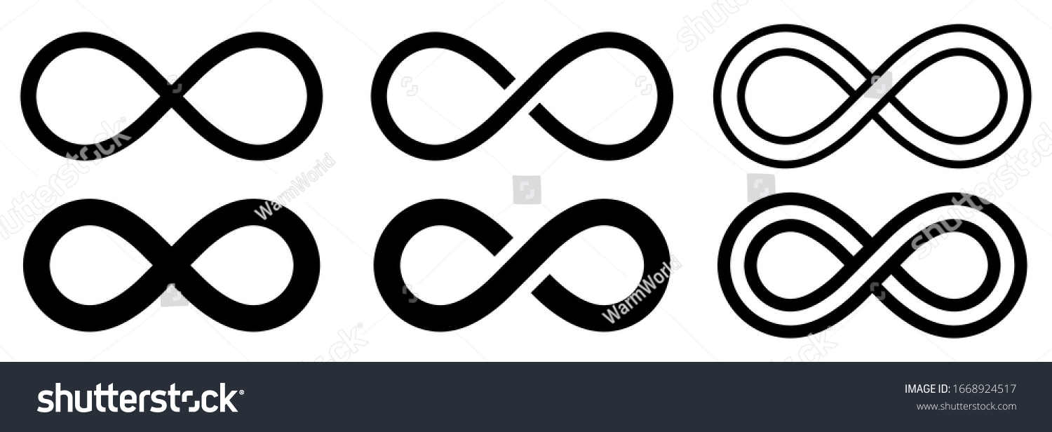 Infinity symbol set. Vector illustration