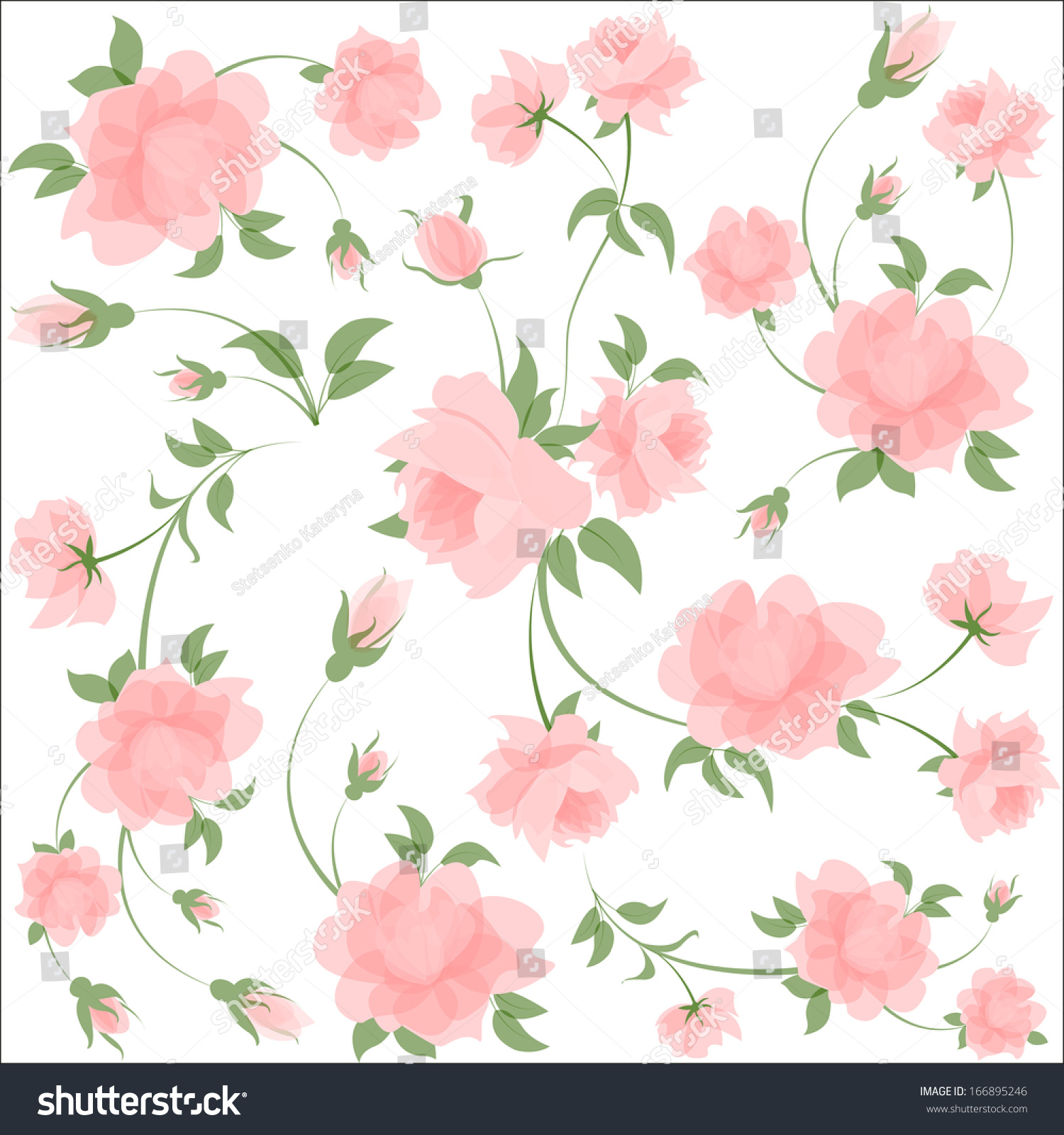 Wedding flowers vector background | EZ Canvas