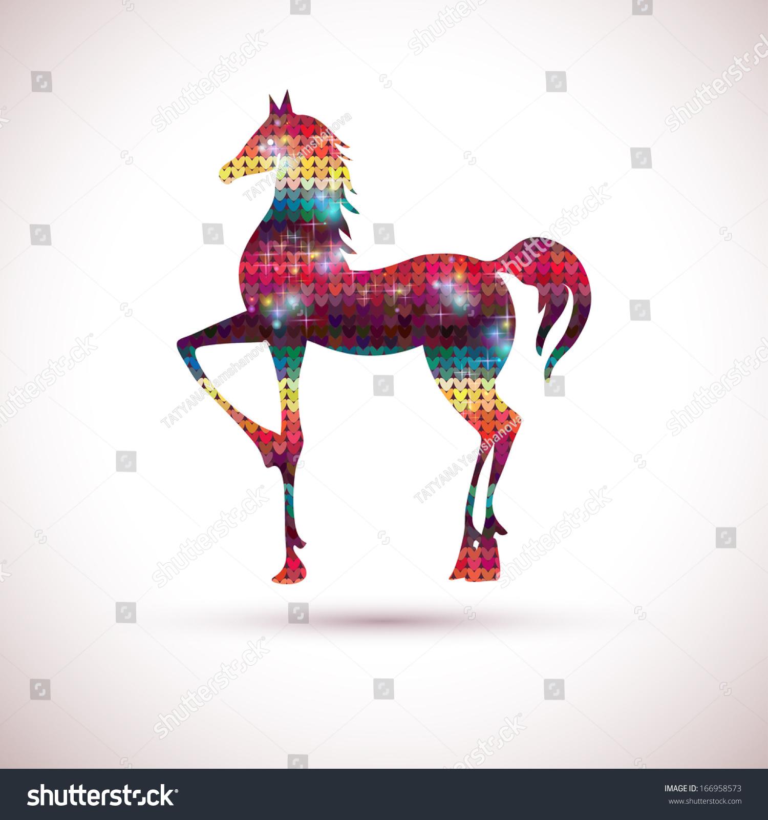 Horse christmas new year card illustration stock illustration christmas new year card illustration with horse holiday design symbol buycottarizona
