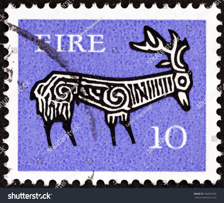Ireland Circa 1968 Stamp Printed Ireland Stock Photo Edit Now