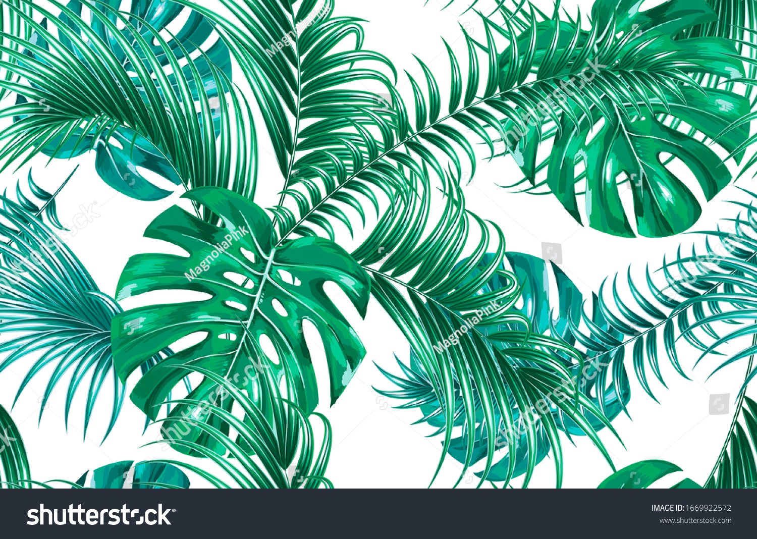 Tropical Leaves Monstera Leaf Palm Leaves Stock Vector Royalty Free 1669922572 This was added to your cart. shutterstock
