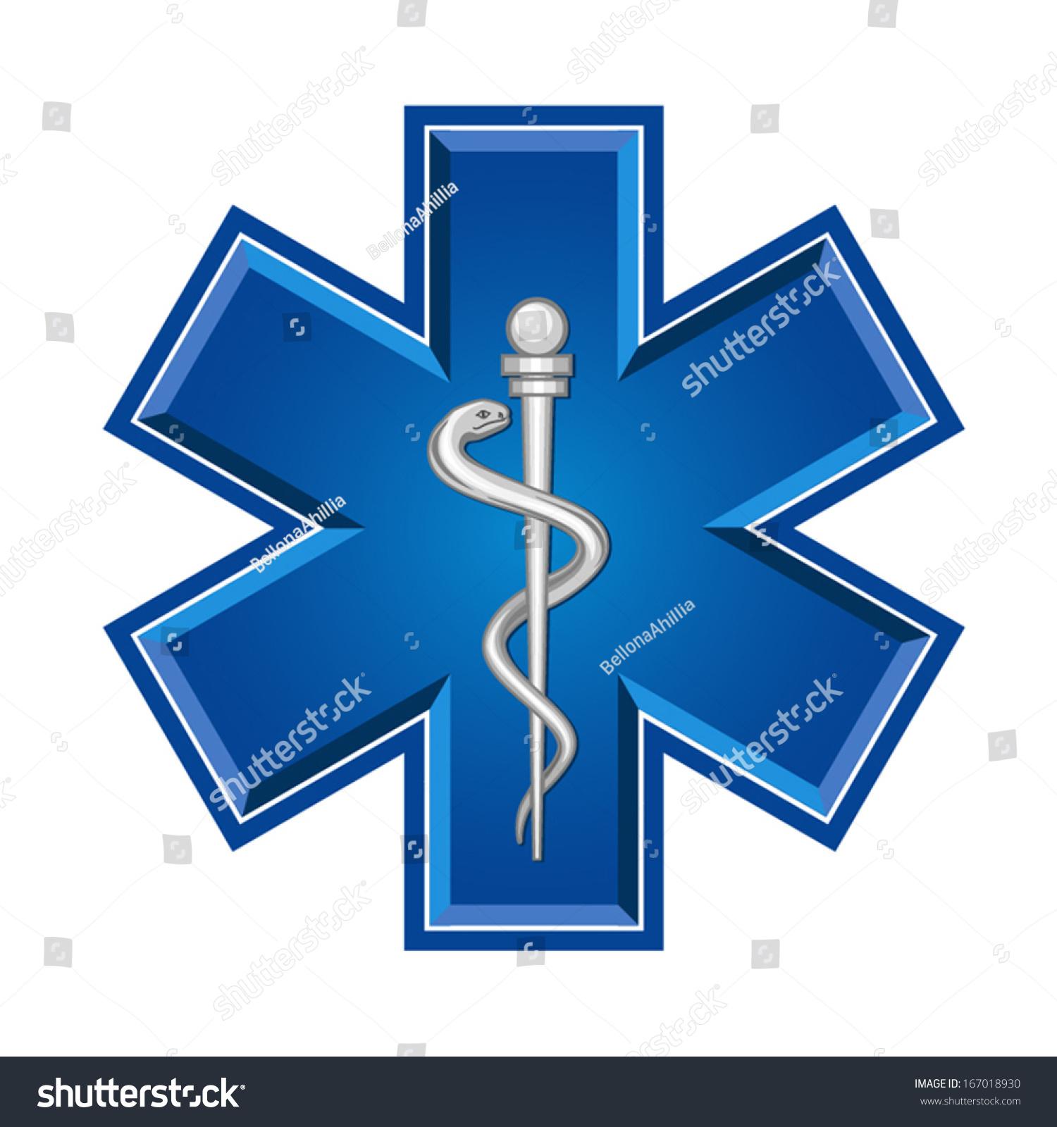 Emergency Star Medical Symbol Caduceus Snake With Stick Ez Canvas