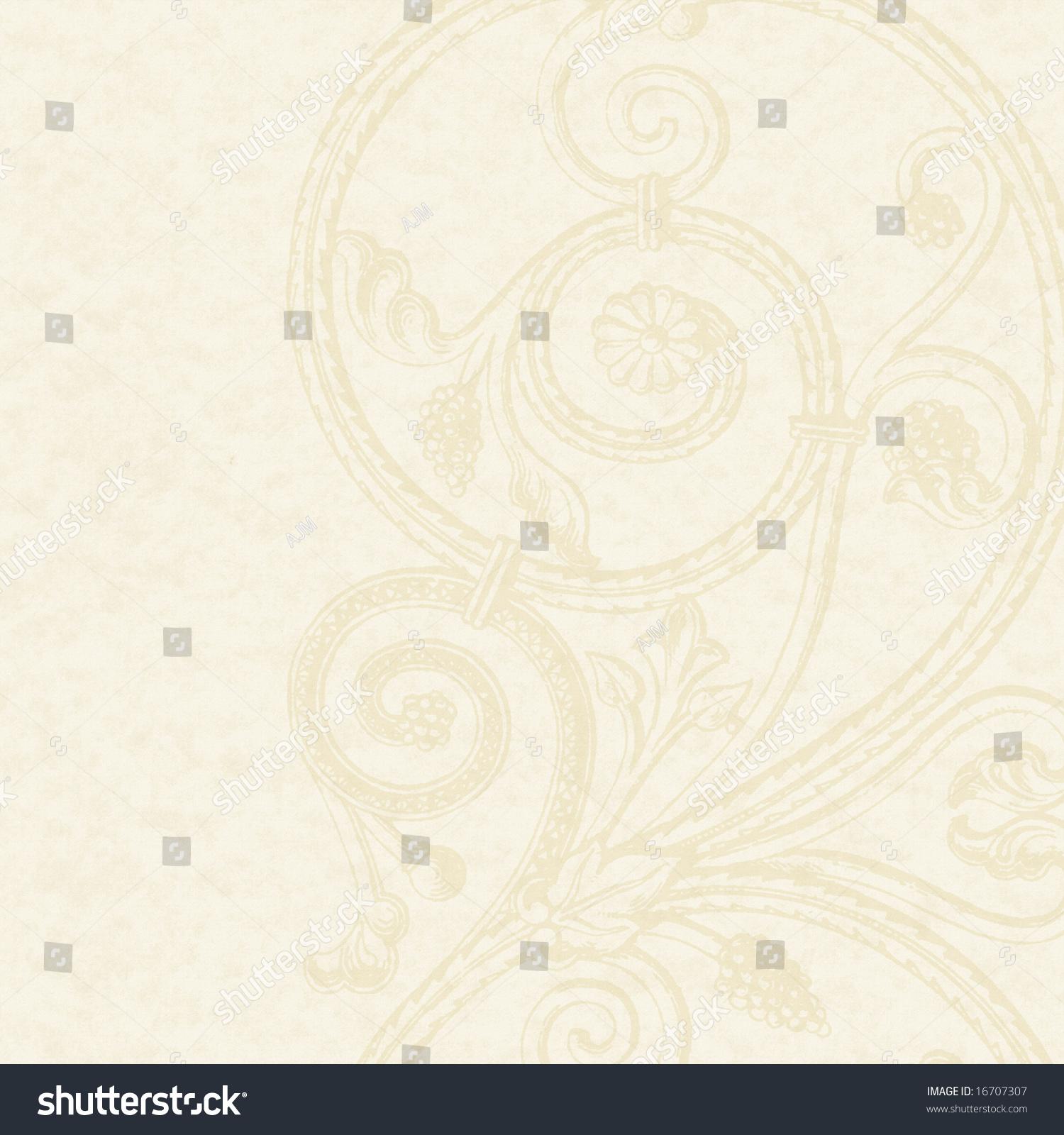 Cream Textured Paper Background 16707307