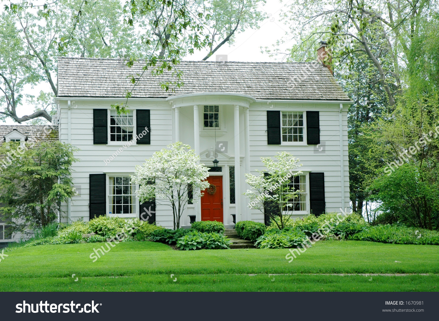 Bright Green House White Fromal House With Siding Black Shutters And Bright Green