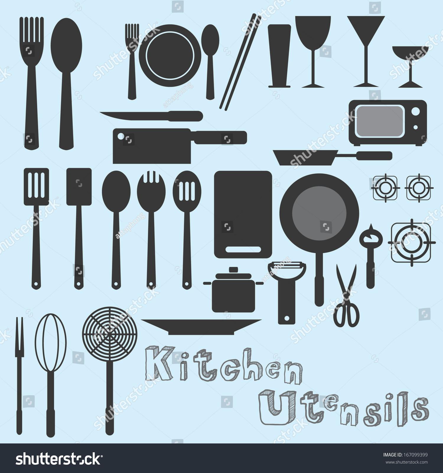 Kitchen Utensils Vector Stock Photo (Photo, Vector, Illustration ...