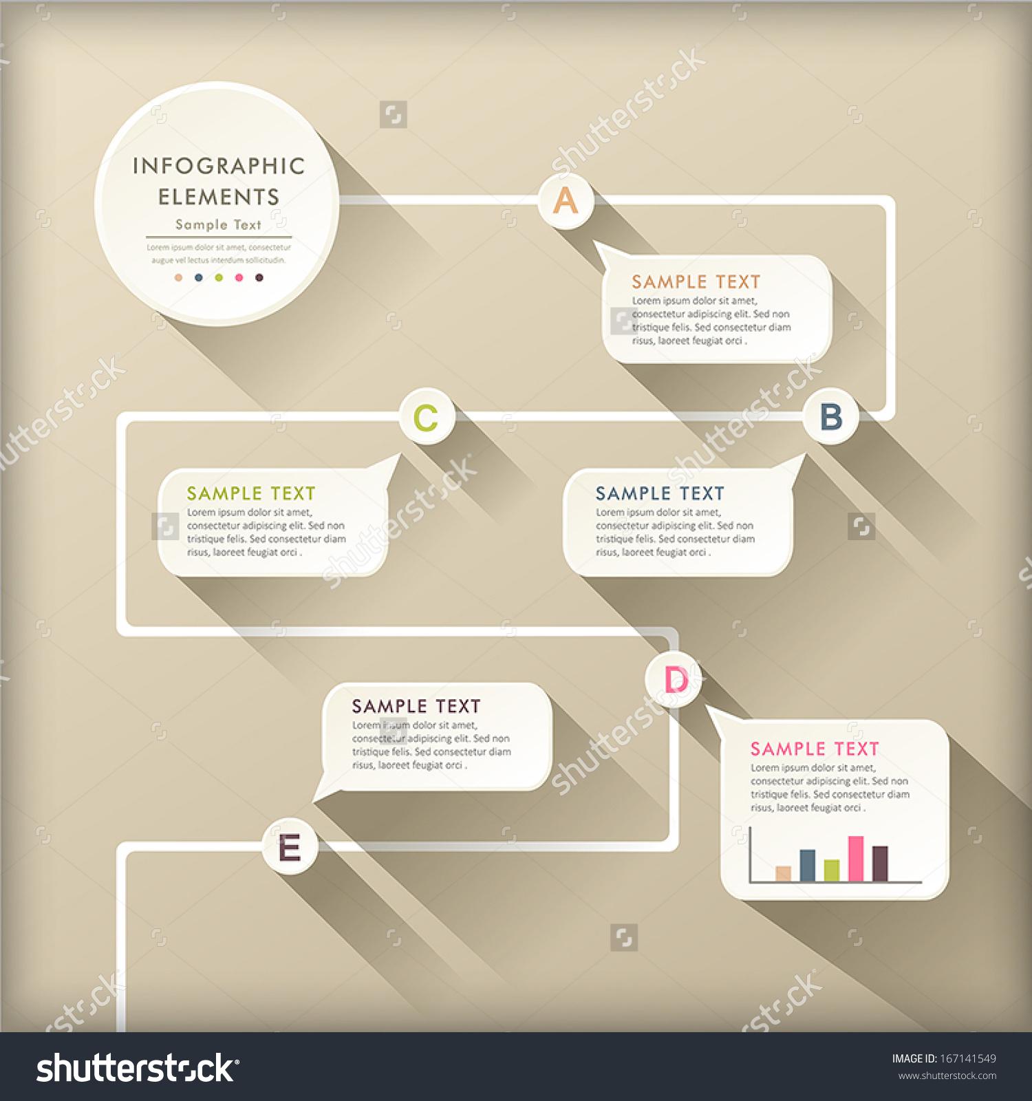 Vector Abstract Flat Design Flow Chart Stock Vector 167141549 ...