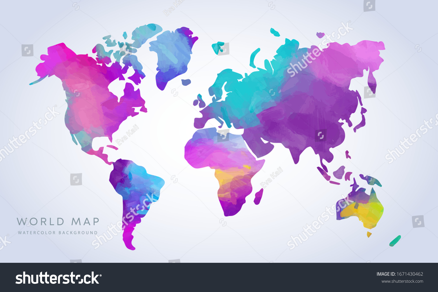 vibrant world map colors vector hand drawn vibrant watercolor world map isolated on white background vibrant world map colors color tour colour nails hand texture europe travel isolated colourful amer