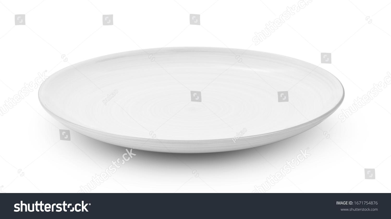 white ceramic plate isolated on white background #1671754876