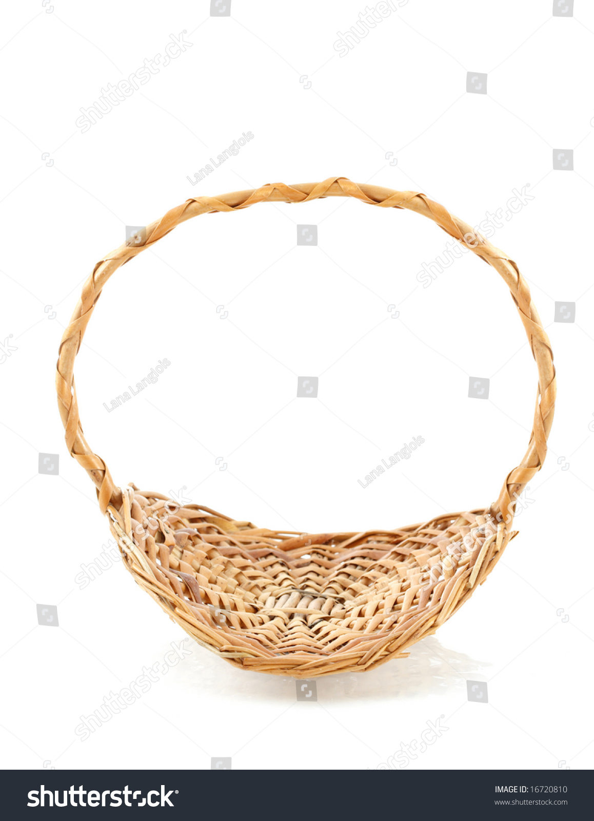 White wicker baskets with handle - Wicker Basket With Handle White Background