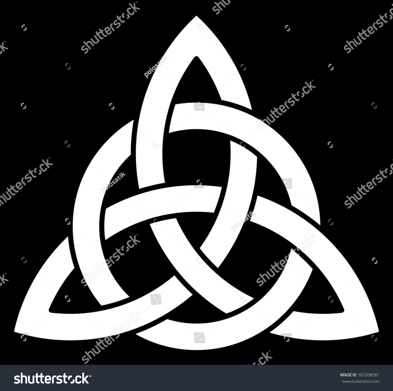 Celtic Trinity knot (Triquetra) interlaced with a circle for your logo ...