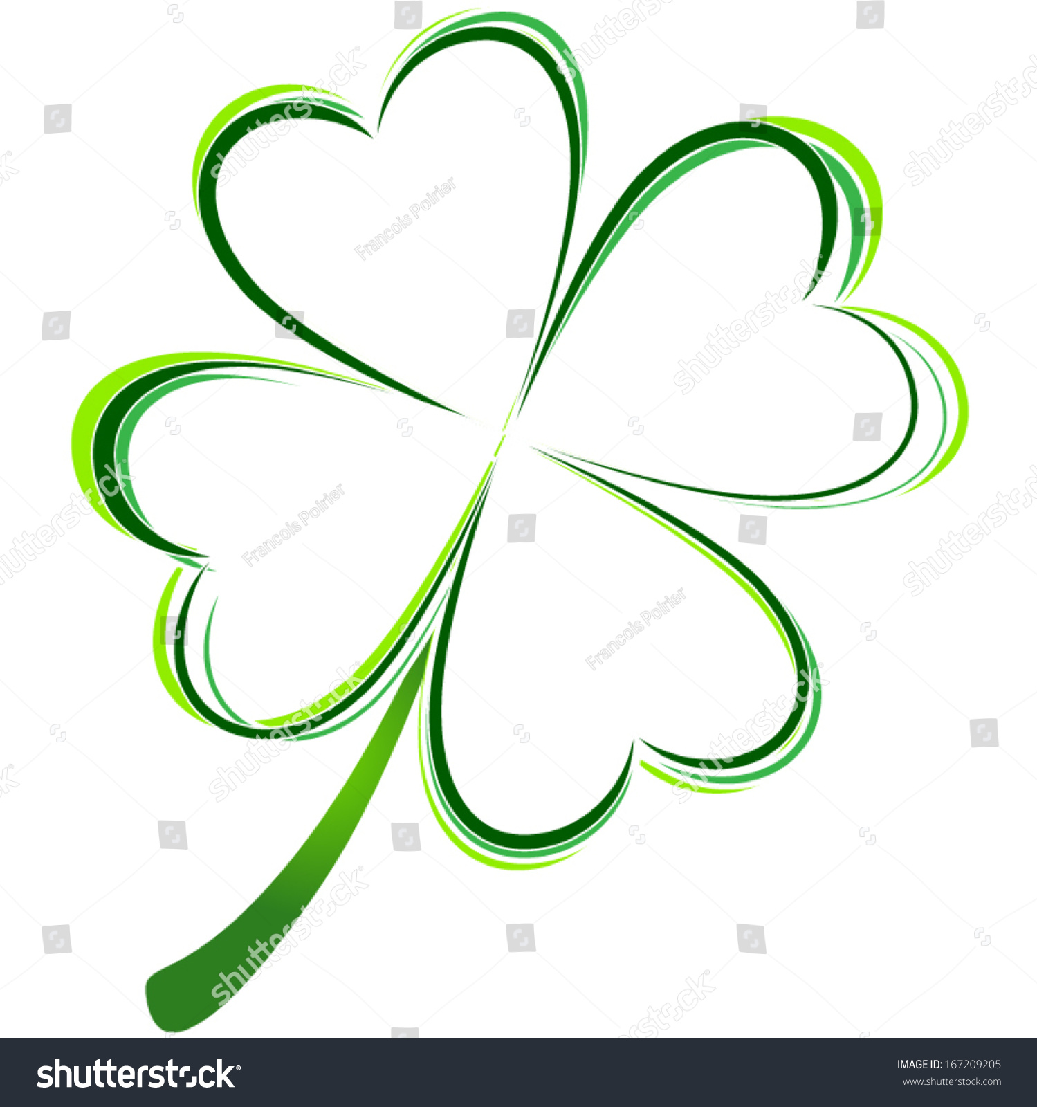 vector illustration green clover picture stock vector 167209205