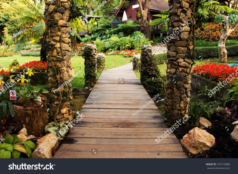Landscaping Garden Path Garden Asian Style Stock Photo (Edit Now ...