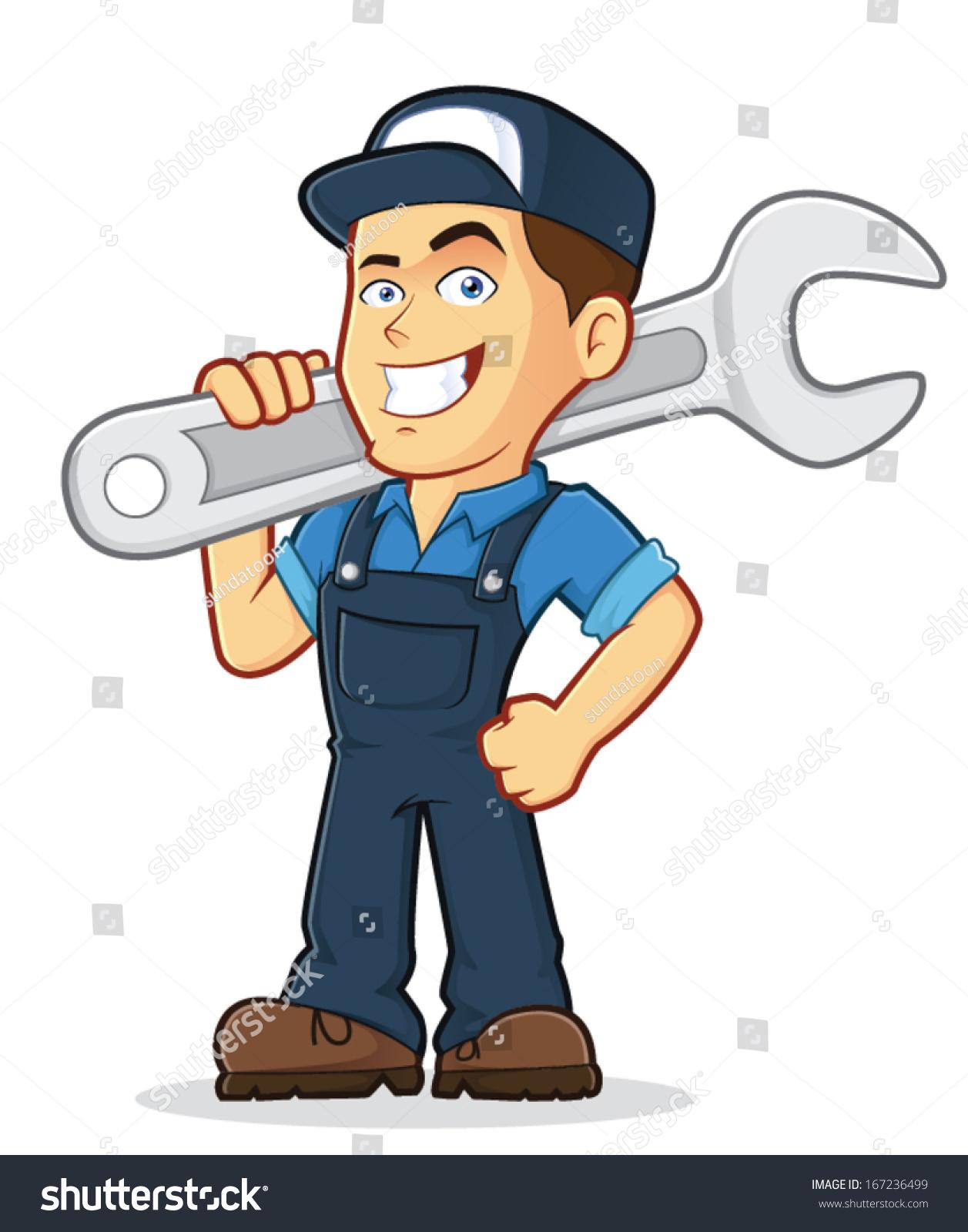 vector clipart picture male mechanic cartoon stock vector car repair logo design car repair logos ma