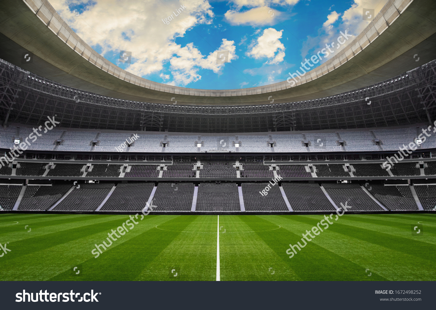 empty stadium - sport events without people #1672498252