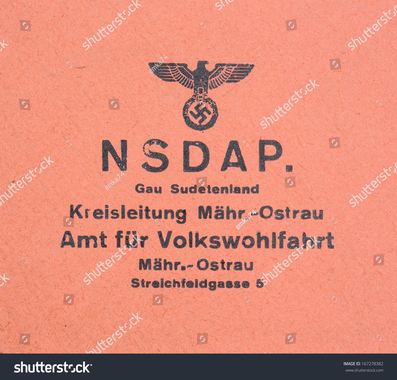 Germany circa 1944 nsdap real vintage stock photo 167278382 germany circa 1944 nsdap real vintage print from world war ii with symbol of buycottarizona Gallery