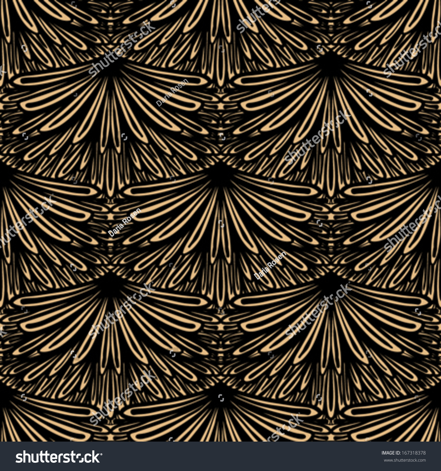 amazing Art Deco Geometric Wallpaper Part - 19: Art deco vector geometric pattern in brown color. Seamless texture for web,  print, wallpaper, Christmas gift wrapping, home decor, winter fashion, ...