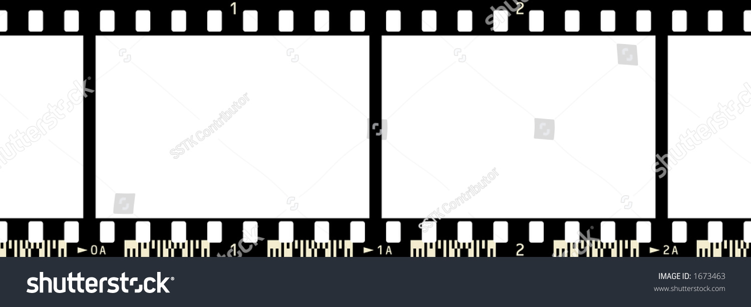 Film Strip 2 Frames Numbers Code Stock Illustration 1673463 ...