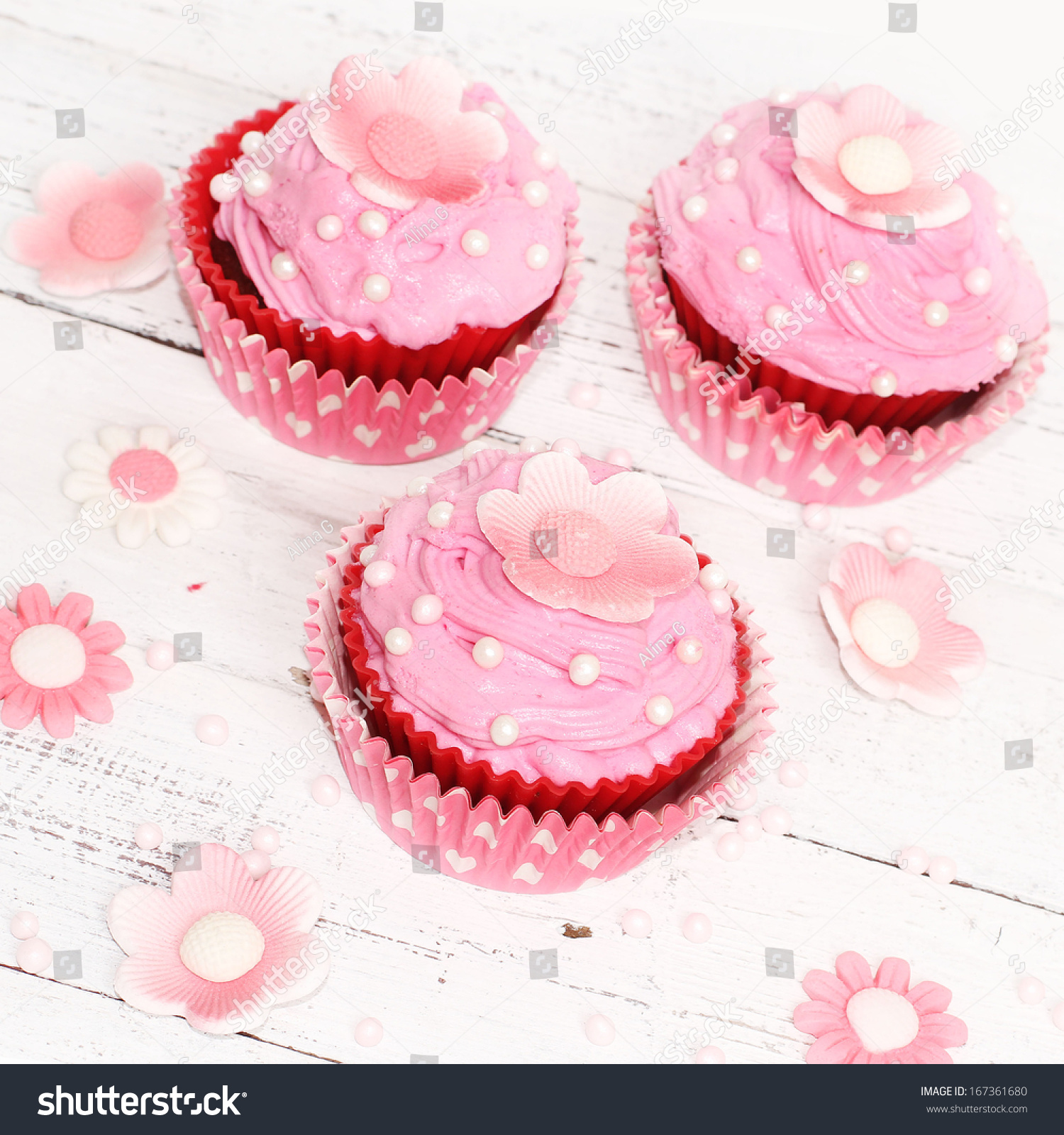 Pink Flower Cupcakes Ez Canvas