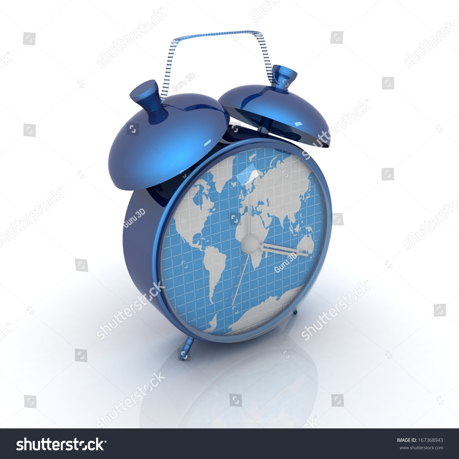 Clock world map stock illustration 167368943 shutterstock clock of world map gumiabroncs Image collections