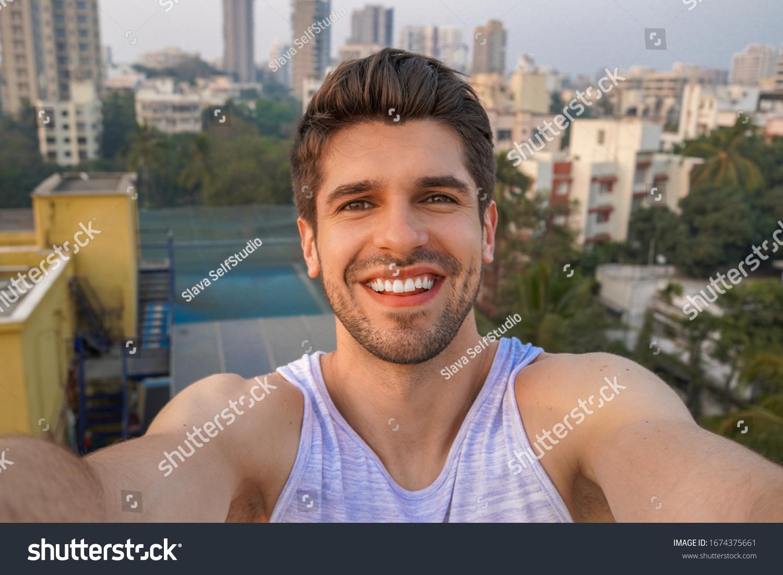 Man selfie looking good Selfies Make