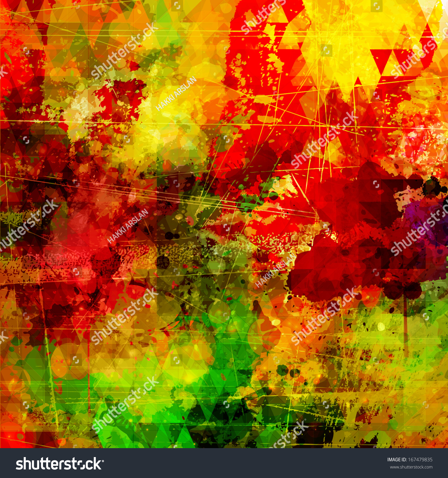 Abstract Painting Colorful Background Artistic Style Stock