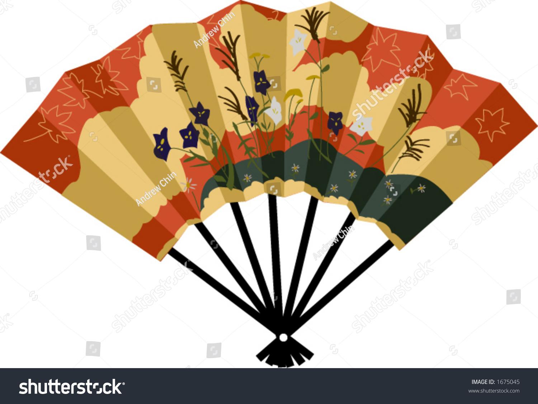 Vector Drawing Japanese Fan Stock Vector 1675045 ...