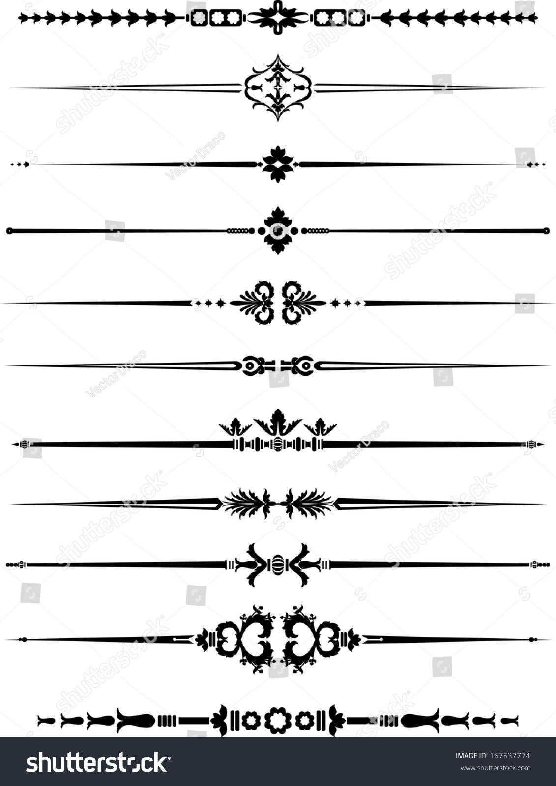 Basic Design Line : Vintage ornamental line border vectores en stock